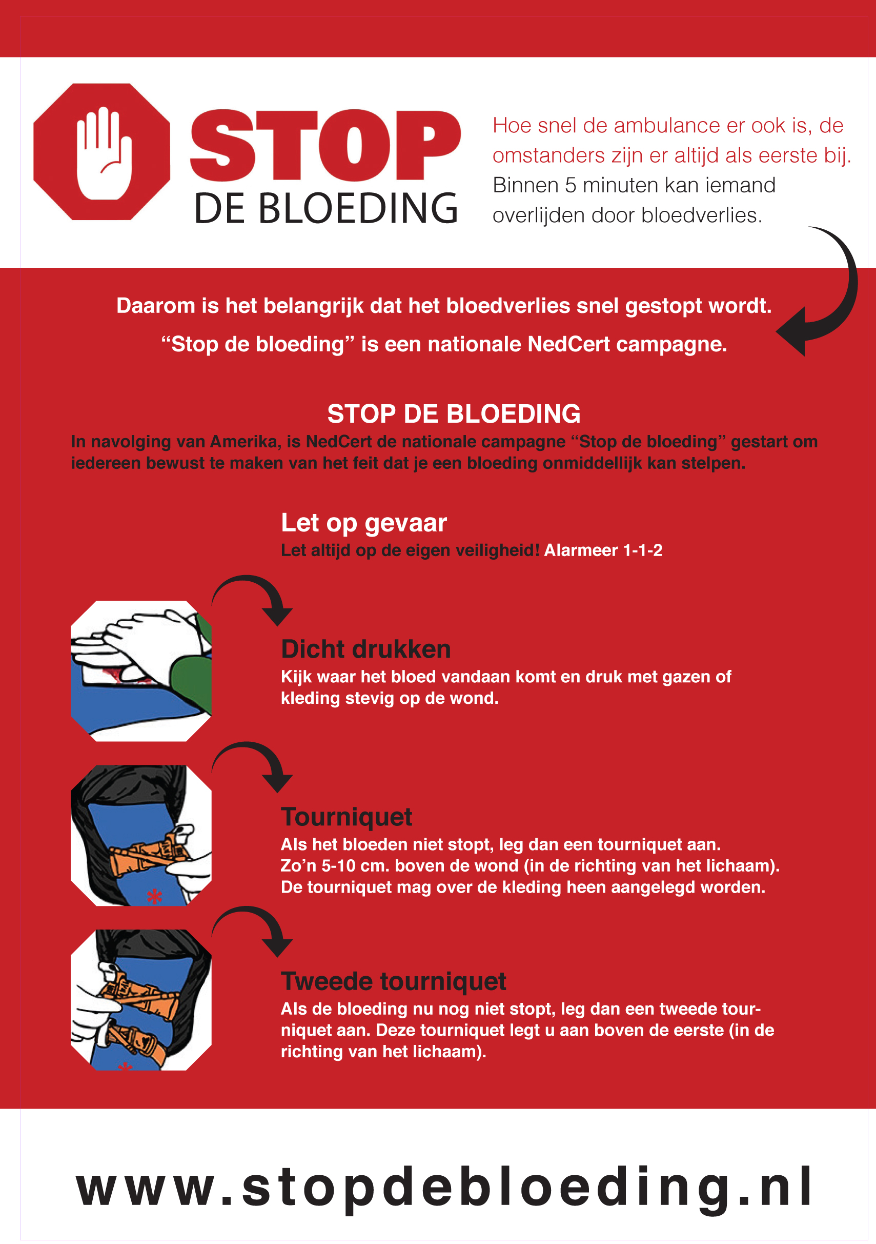 Flyer Stop de Bloeding